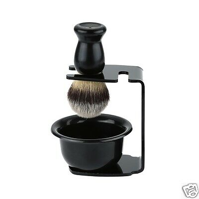 Men Razor Shaving Brush Set Soap Bowl Brushes Holder Stand Shaving Cleaning Tool