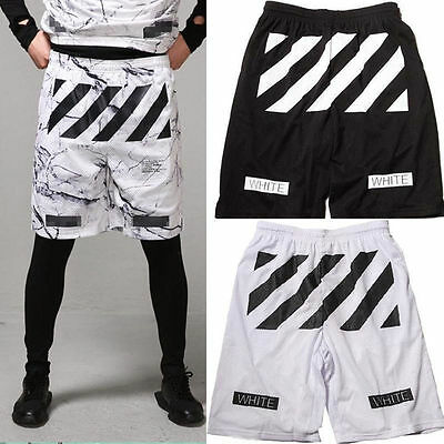 Kpop EXO G-dragon Hip hop basketball sport shorts OFF WHITE beach shorts unisex