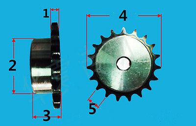 #25 SPROCKET 9 - 25 tooth  # 25 ROLLER CHAIN Sprocket with set screw