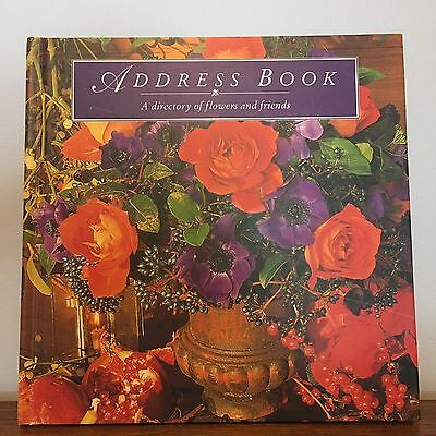 Address Book / A Directory Of Flowers and Friends VGC