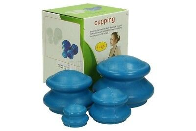 Set of 4 Chinese Acupuncture Cupping Rubber Massage Cellulite Therapy