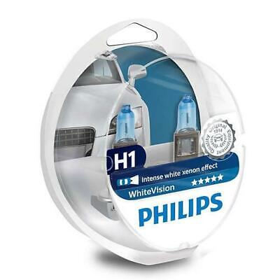 PHILIPS H1 White Vision 12V 55W P14,5s Xenon effect Headlight Bulb Pack of 2+2