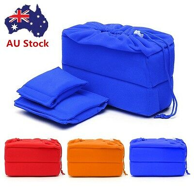 AU Stock Shockproof DSLR SLR Camera Bag Partition Padded Insert Protection Case