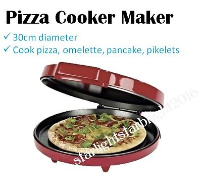 Electric Pizza Cooker 30cm Home Made Pizza Oven Maker Benchtop Hotplate Oven