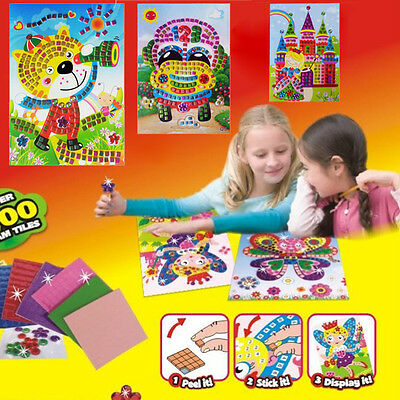 Kids Learning Toy 3D Puzzle Powder Painting Rhinestone DIY Material Bag Gift
