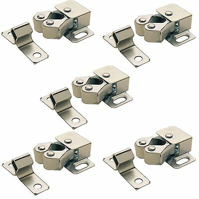 5 X Roller Catch Cupboard Cabinet Door Latch Twin Double Catches