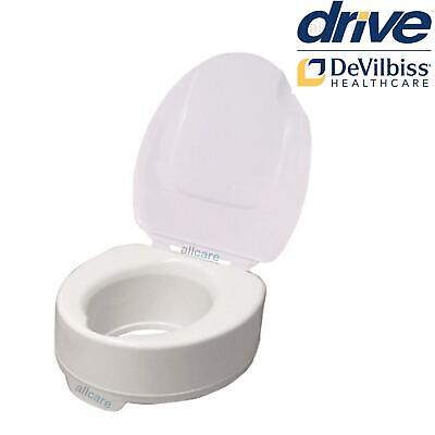 Raised Toilet Seat with Lid. 4inch Elevating Disability Aid