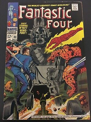Fantastic Four Vol 1 # 80 Cents Issue, Silver Age FN