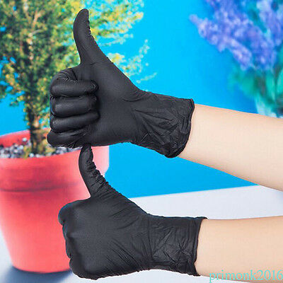 10pcs Nitrile Rubber Disposable Black Gloves Tattoo Household Tattoo Accessories