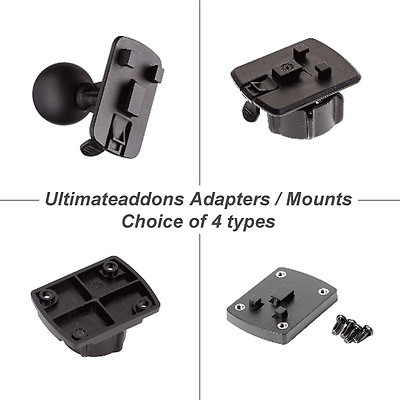 Ultimate Addons Adapters Mount 3 Prong Connector Case Ball fit RAM TIGRA AMPS