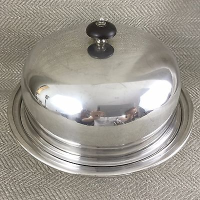 Art Deco Food Dome Cloche Covered Bowl Silver Plated Warming Dish C 1920s