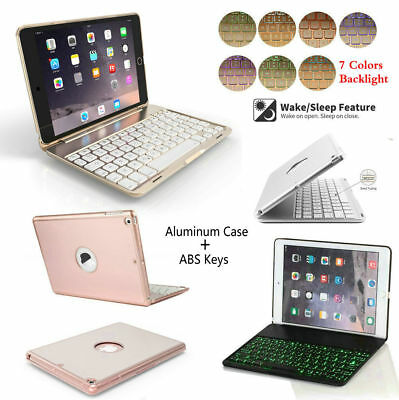 7 Color Backlit Bluetooth Keyboard Case Cover For iPad 9.7 2017 Air 2/1 Pro Mini