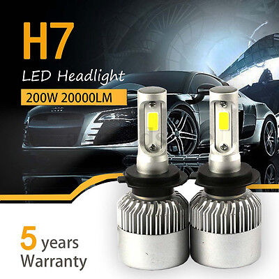 Hot H7 200W 20000LM LED Headlight Kit Low Beam Car Bulbs 6500K White IP68