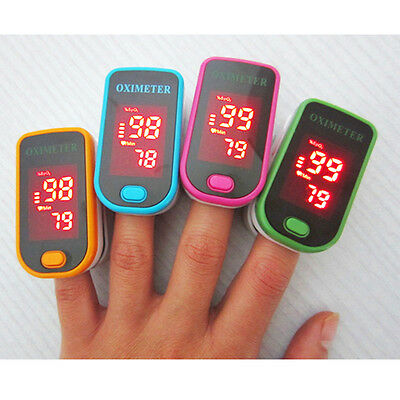 Finger Clamp Pulse Oximeter Blood Oxygen Saturation Monitor Finger Warm Rate#O