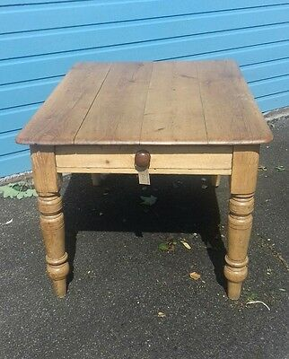 Antique Pine Table with Drawer