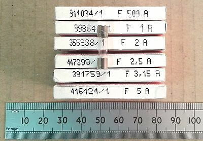 Fast Blow 20 X 5mm Glass Fuse 250V Various Currents