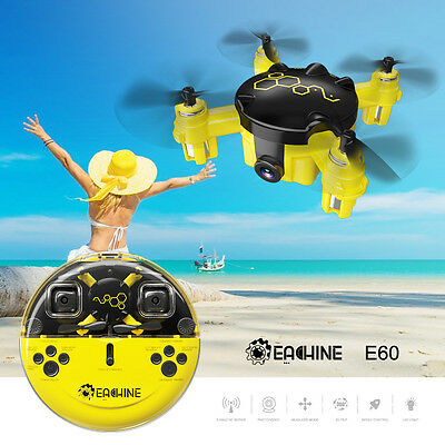 Eachine E60 Mini Pocket Drone w/ Camera Headless Mode 2.4G 6-Axis RC Quadcopter