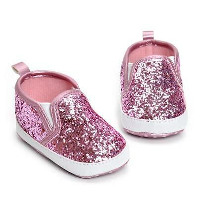 Infant Toddler Baby Boy Girl Soft Sole Crib Shoes Bling Sneakers Newborn to 18 M