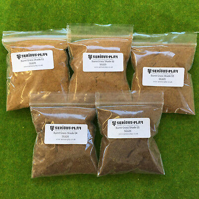 Burnt Grass Shades 1mm Static Grass Model Scenery Railway Terrain Wargame Brown