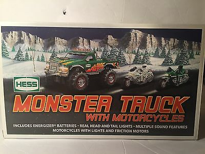 2007 Hess Truck - Monster Truck with Motorcycles - In box