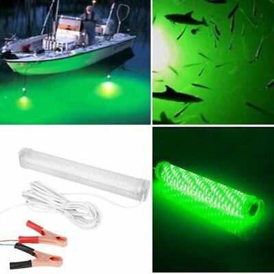 12V Underwater LED Fishing Light Night Boat Attract fish Squid Clip-on Lamp BG