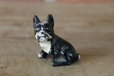 Old HUBLEY Cast Iron French Bulldog Miniature Paperweight Figurine