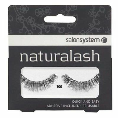 Salon System Naturalash Quick and Easy Re-Usable Black 100 Lashes