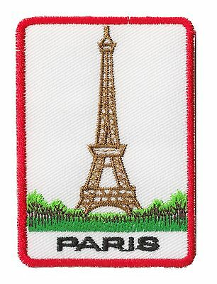 Patch écusson patche Tour Eiffel Paris souvenir thermocollant brodé