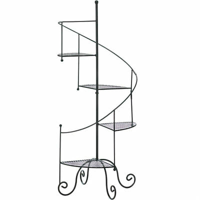 AEWH-10015964-Iron Spiral Staircase Plant Stand