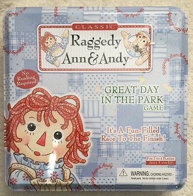 """New! Raggedy Ann & Andy """"Great Day In The Park"""" Game"""
