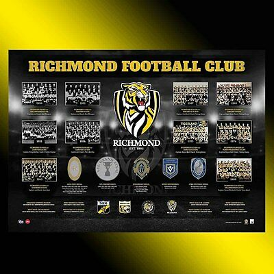 The Premiership History Richmond Tigers Official Afl Premiers Print Brownlow