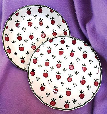 "COUNTRY FRENCH PAIR of 6"" SAUCERS (cherries) ~ ROYAL STAFFORDSHIRE-J & G MEAKIN"