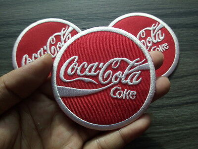3 pcs SodaCOLA 3.0 INCH Patches Iron  On  or Sewn Embrodered  Free Shiping