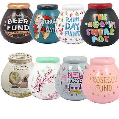 Pots Of Dreams Ceramic Money Bank - Pot - Box (Break To Open) - VARIOUS DESIGNS