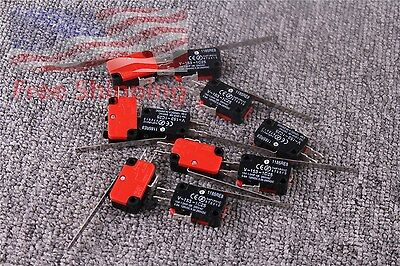 10PCS V-153-1C25 Limit Switch Long Straight Hinge Lever SPDT Micro Switch New