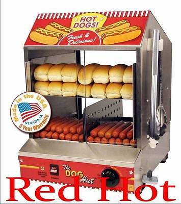 Paragon 8020 Hot Dog Hut Steamer Hot Dog Cooker Bunn Warmer Free Shipping