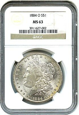 1884-O $1 NGC MS63 - Pretty Reverse Toning - Morgan Silver Dollar
