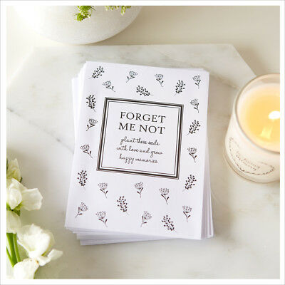 25 Unfilled Forget Me Not Seed Packet Funeral Favour Envelopes - Condolence