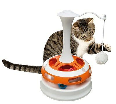 Ferplast Tornado Cat Pet Toy Carousel - With Flashing Ball - Size: 24 x 34 cm