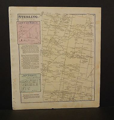 Ohio Brown County Map Sterling Township 1876 Dbl Side  W9#62
