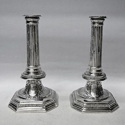 Queen Anne Silver Candlesticks Made by RICHARD SYNG London 1703. Stock ID 8917