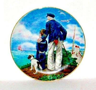 1982 Royal Eaton Norman Rockwell's Looking Out To Sea Colector Plate.