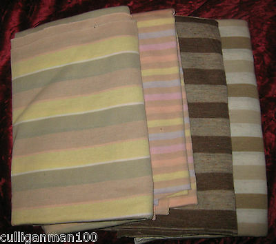 1 - lot of 4 - T'shirt Fabric in Brown Stripes (2017-110)