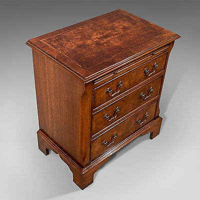 Antique Small Bachelor's Chest Drawers Fine Burr Walnut & Mahogany 20th C