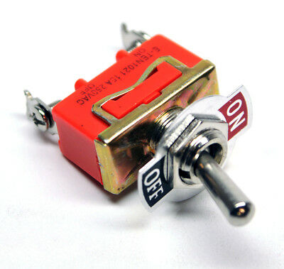 2-Position 12V ON/OFF 15A 250VAC Heavy Duty Flick Toggle Switch SPST