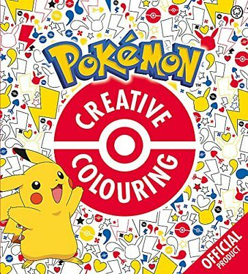 Official Pokémon Creative Colouring by Pokémon New Paperback Book