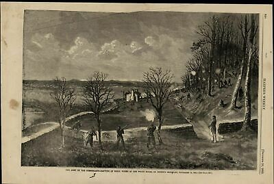 Cumberland Army Rebel Works Capture Lookout Mtn 1863 great old print for display