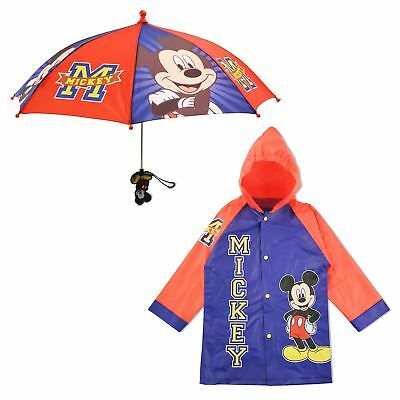 Disney Mickey Mouse Slicker and Umbrella Rainwear Set, Little Boys, Age 2-7