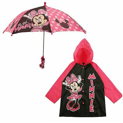 Disney Minnie Mouse Slicker and Umbrella Rainwear Set, Little Girls, Age 2-7