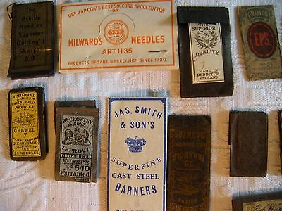 antique sewing needles crewel helix sharps darners for millinery &  embroidery